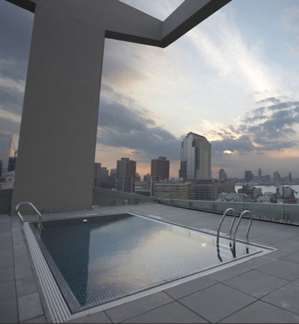 Rooftop Steel Pool at James Hotel