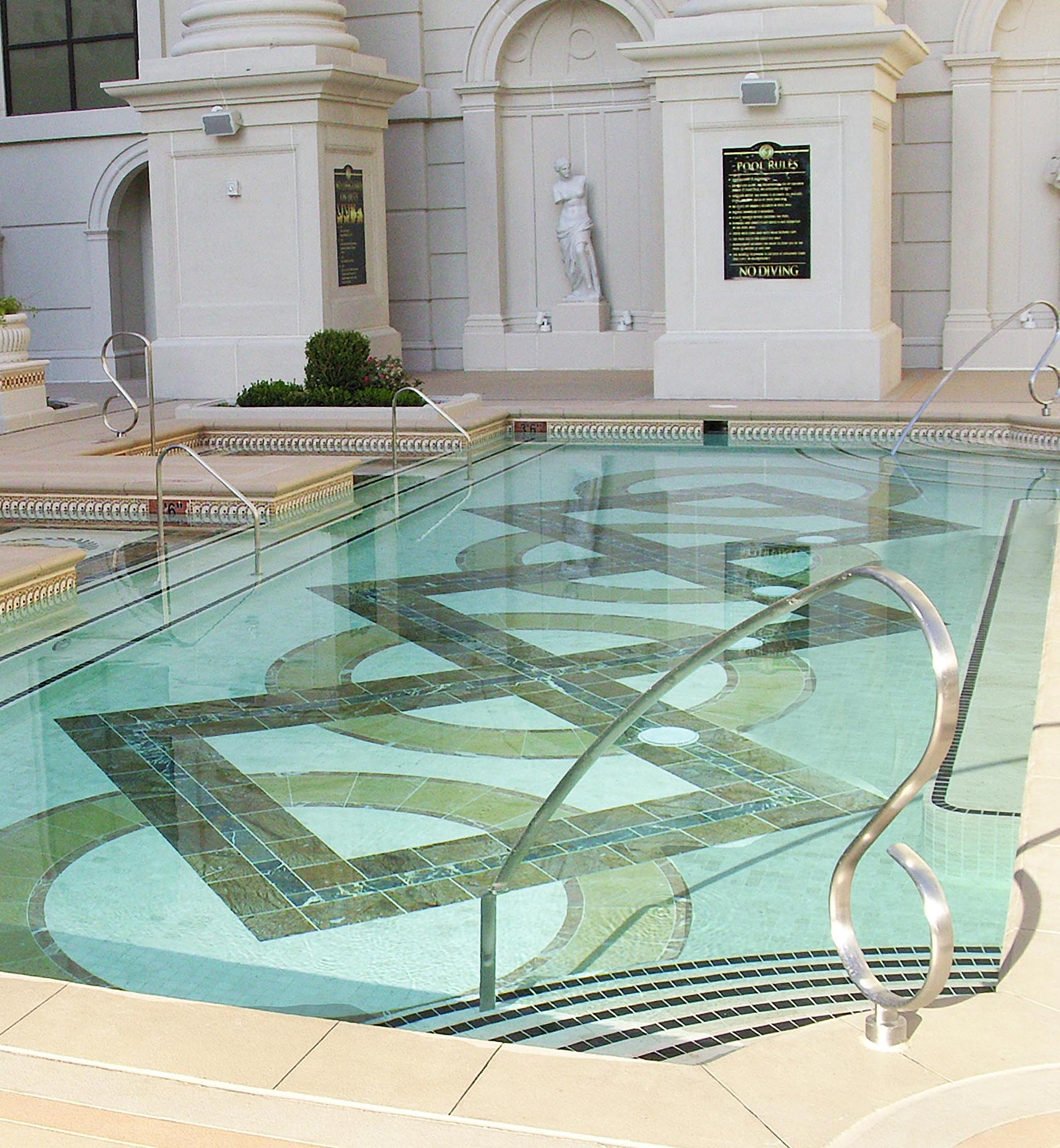 Caesars palace stainless steel pools for Caesars swimming pool