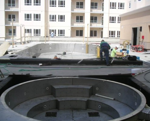 case study oceanside pier resort steel pool installation