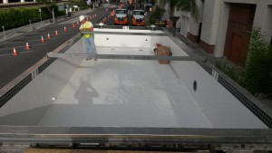 Stainless Steel Pool - finished interior tile