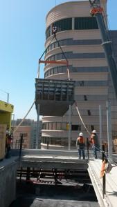 stainless steel pool rooftop installation - Edison Lofts