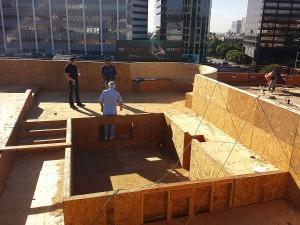 Gayley Los Angeles Rooftop Pool Installation Preparation