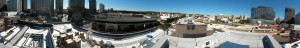 Gayley Los Angeles Rooftop Pool Installation Panarama