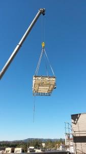 Gayley Los Angeles Rooftop Pool Crane Installation