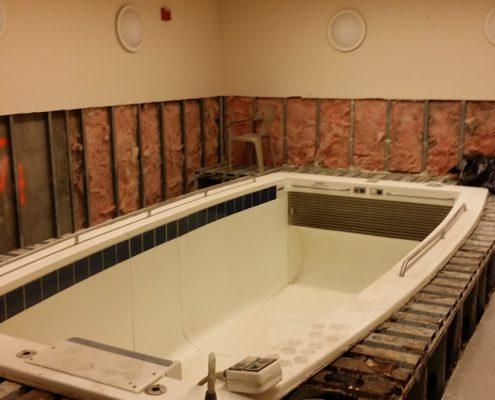 Swim Spa Remodel in Process