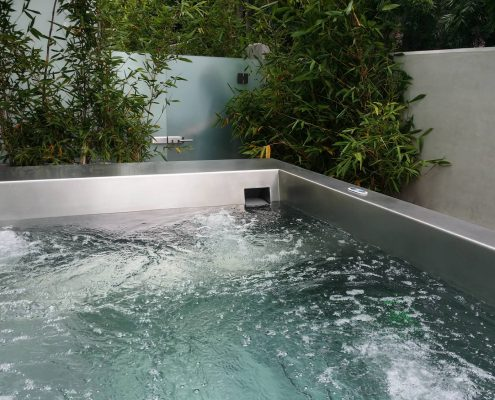 Edris Stainless Steel Spa - Finished