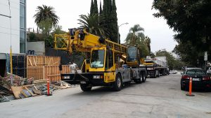 Crane Used for Spa Installation