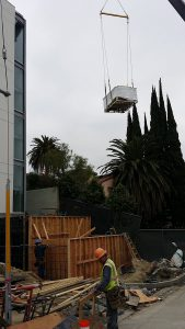 Crane Installation of Stainless Steel Spa
