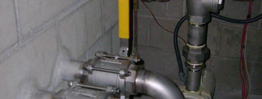 Stainless Steel Pool Room Plumbing