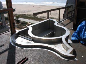 Stainless Steel Spa Installation