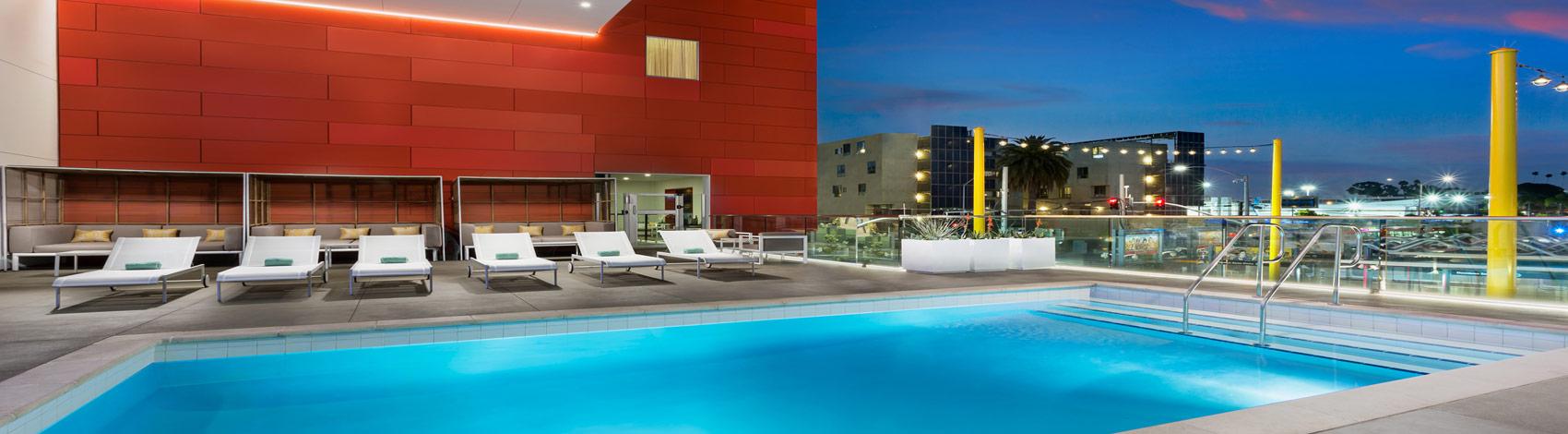 hotel pool rooftop deck