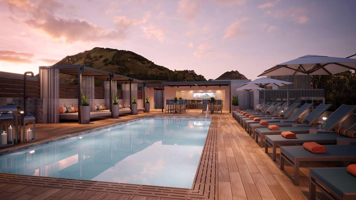 Hotel Serra Rooftop Pool Deck Rendering